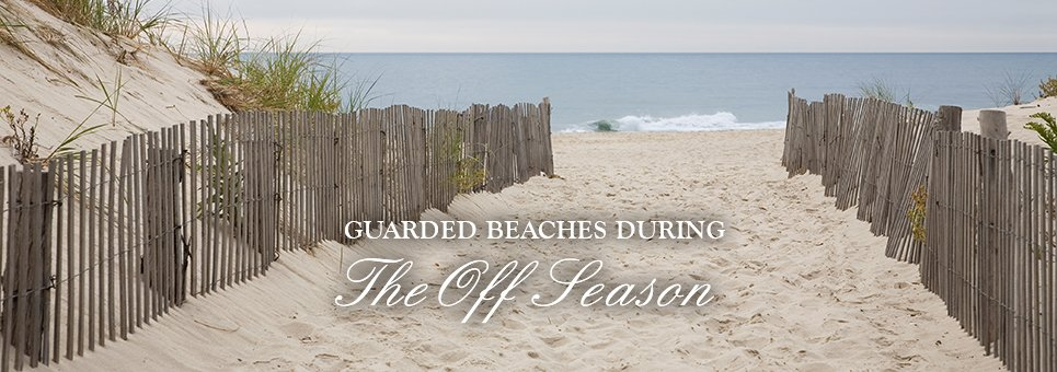 Guarded Beaches during the off season in ocean city new jersey