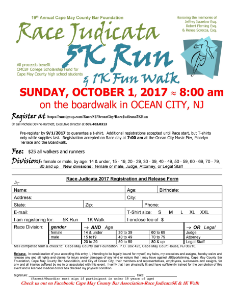 Cape May County Bar Assoc. 5K Run