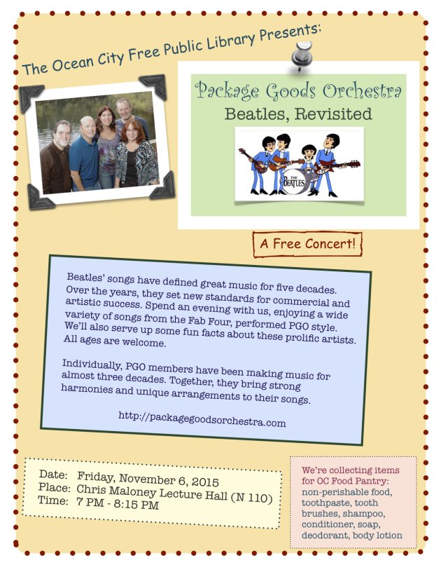 Beatles, Revisited, Package Goods Orchestra Concert