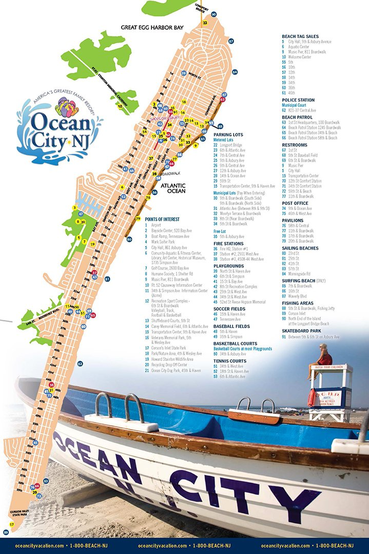 map of ocean city nj